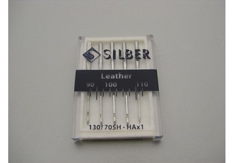 Sewing machine needles 130-705 H SILBER Leather