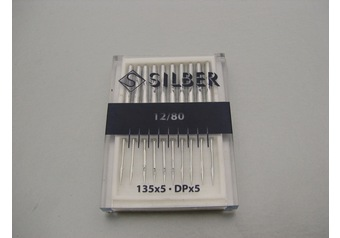 Sewing machine needles 135 x 5 SILBER No.80
