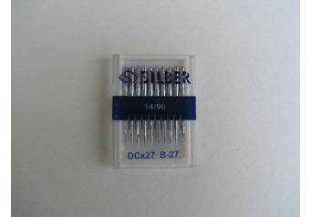 Sewing machine needles B 27 SILBER No.90