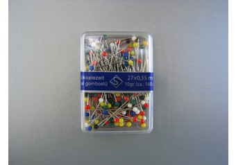 Color head pins SILBER 27 mm x 0,55 mm