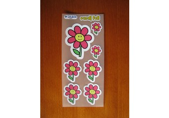 Iron-on sticker: Red flower